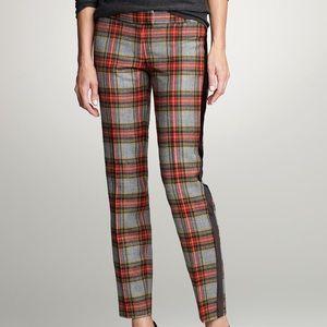 J. Crew tuxedo style plaid pants